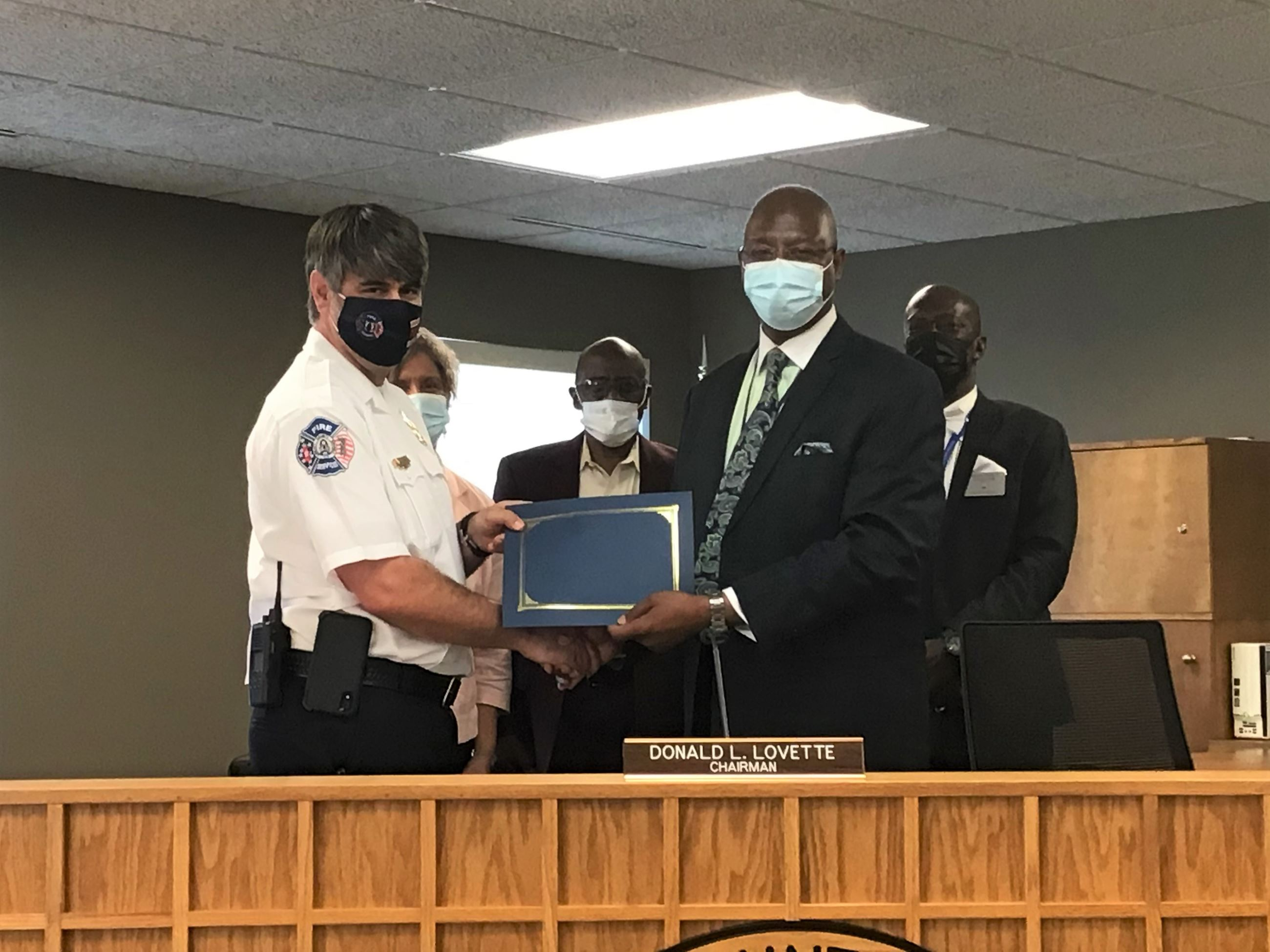 Recognition of Deputy Fire Chief Huffman